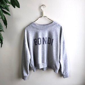 Aerie Bondi Beach Fleece Crewneck Sweater.